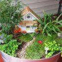 Minyatür bahçeli ev