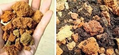 Yanmış toprak topakları
